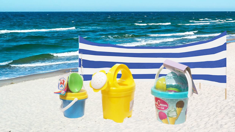Strandspielzeug und Windschutz für Garten und Ostsee