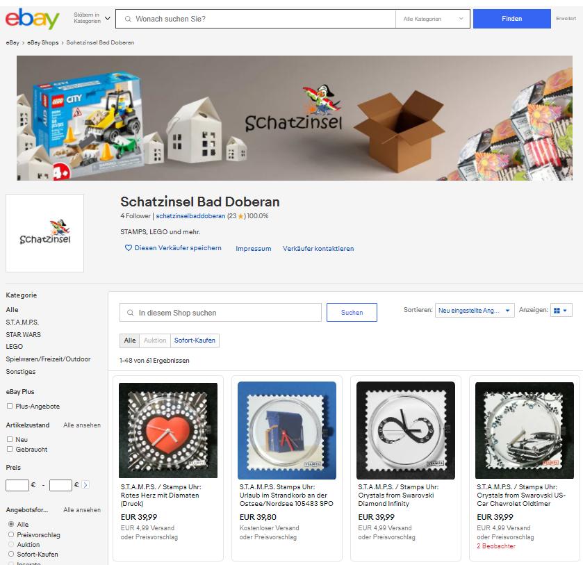 Die Schatzinsel bei eBay