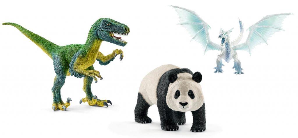 Schleich Figuren Saurier Eisdrache Panda